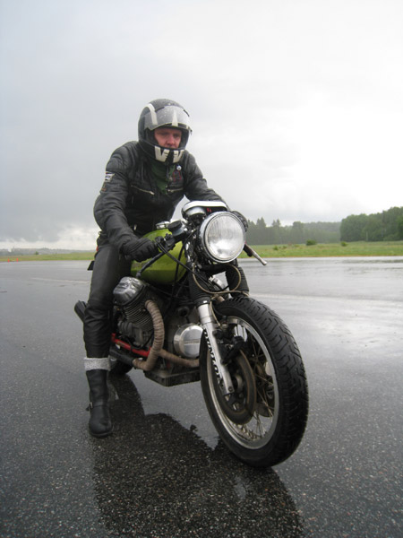 Ton-up Stockholm Applebee Speed Trophy 2008 - Christers Guzzi (2:a plats)