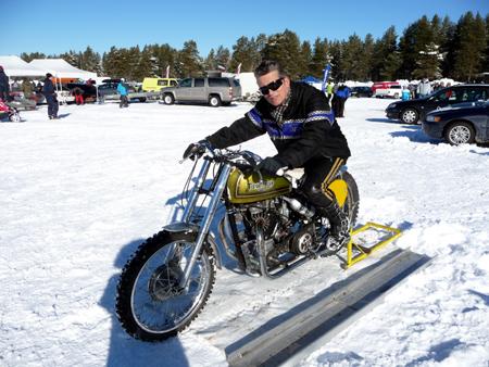 Charlie Speedtwin Speed Weekend on Ice 11-12 Mars 2011 Orsa Speedway