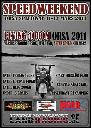 Speed Weekend on Ice 11-12 Mars 2011 Orsa Speedway